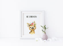 Woodland Nursery Wall Art, Personalized Kids Name Picture, custom kids name, Watercolour Nursery Art, Animal Nursery Art