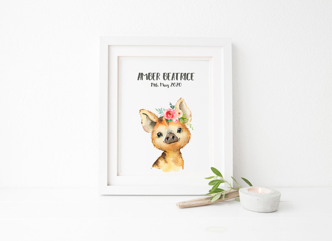 Woodland Animal Prints, Woodland Nursery Prints, woodland animals uk, woodland animal decor, custom name print