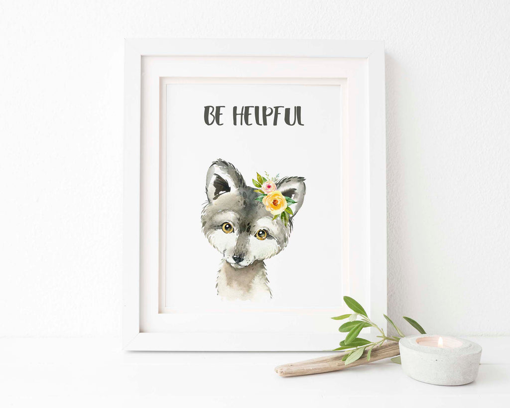 personalised baby picture, watercolour woodland animal prints, watercolour woodland art, custom baby prints