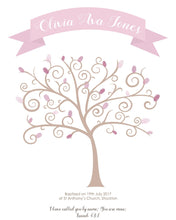 Baptism Fingerprint Tree - fingerprint tree kit, personalised fingerprint tree, make your own fingerprint tree