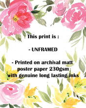CustomQuotePrints1 - Floral Custom Quote Poster, Your Text Here Custom Poem Print, Custom Quote Prints