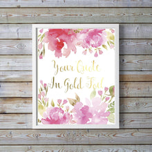 Custom Foil Print, Personalised Gold Foil Print, Foil Quote Prints, Gold Prints, Rose Gold Wall Art