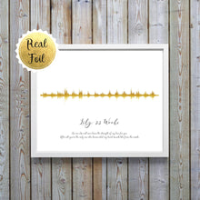 Gold Foil Prints - Baby Heartbeat Picture Sound Wave Print, Heartbeat Sound Wave, Gold Foil Print, Heartbeat Sound Wave, Gold Foil Print