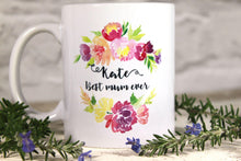 Pretty Mug For Mum, Custom Name Mugs for Mums, Floral Mug With Name