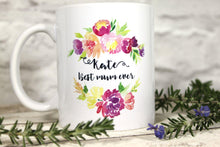 Mug - Personalised 'Best Mum Ever' Floral Mug