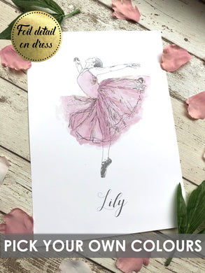 Personalised Foil Prints 1 - girl ballerina names,girl ballerina pictures, girl ballerina drawing, girl room decor ideas,girl room idea,girl room decor, girls room decor ideas, girls room wall decor, girls room decor, girls room ideas, ballet prints