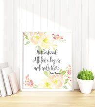 Personalised Prints 1 - Motherhood : All Love Begins And Ends There - Robert Browning Quote Print, Mother Quote Pictures mothers day gift ideas for mum