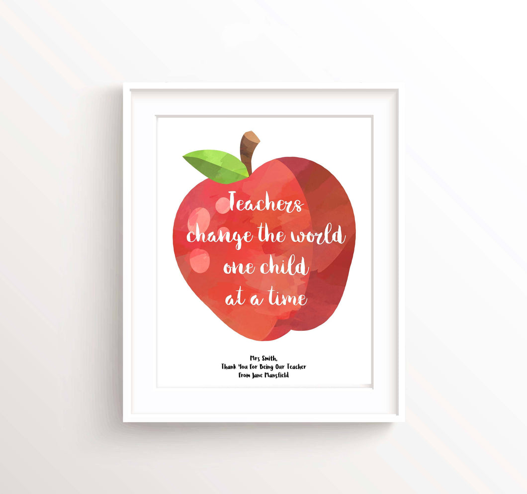 Personalised Prints 1 - Personalized Gifts For Teachers, Teacher Appreciation Gifts Teachers