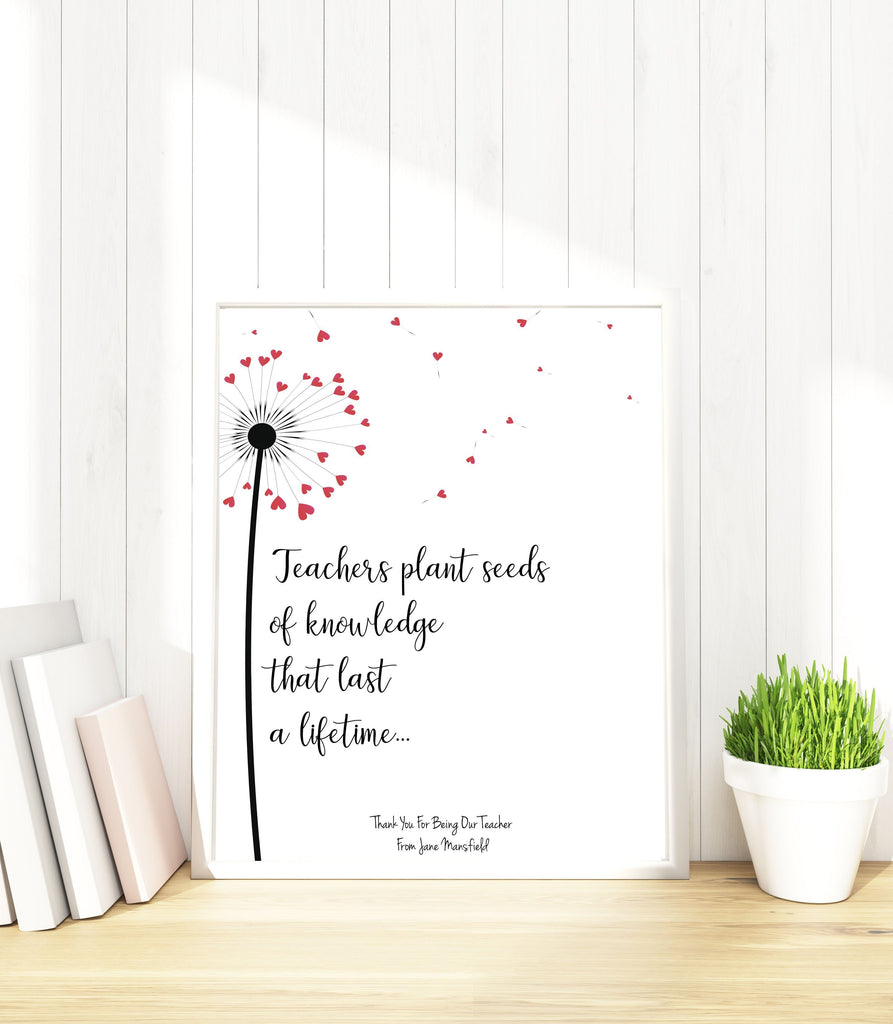 Teacher Appreciation Gifts, Gift for Teacher, Personalized Gifts for  Teachers, Teacher Print