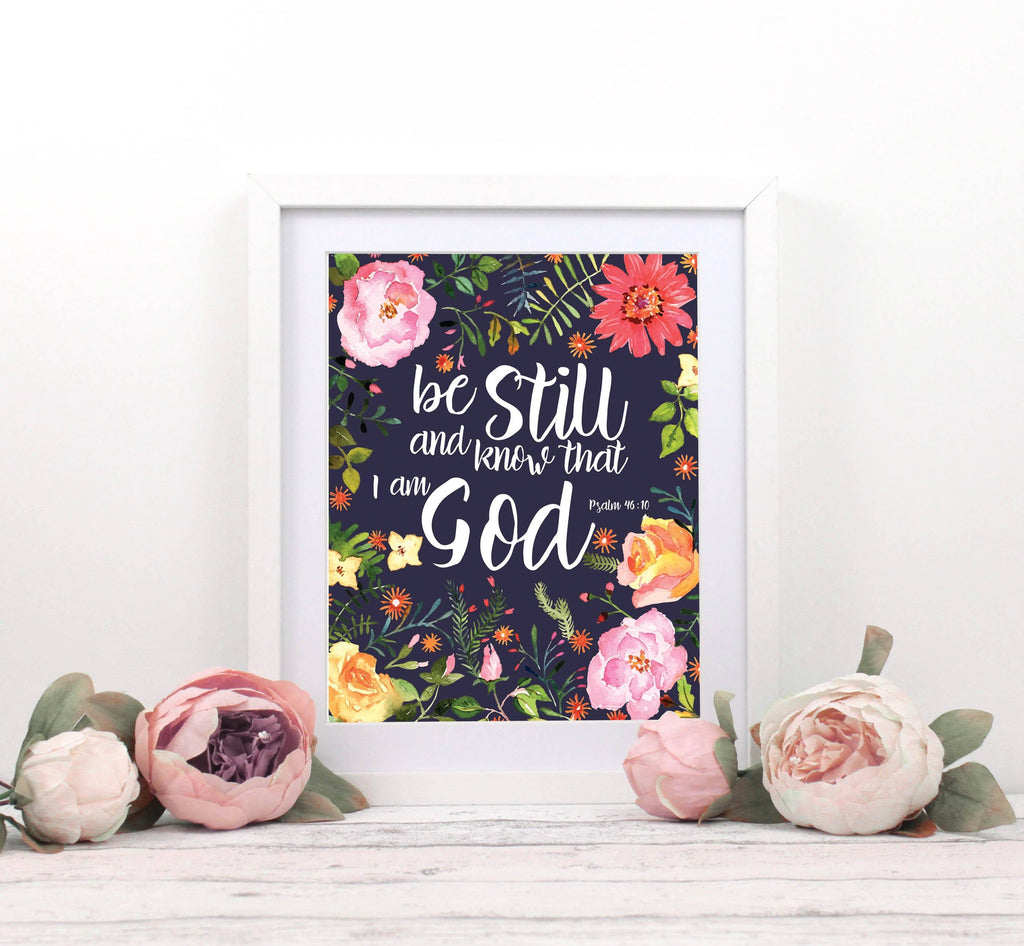 Psalm 46 10 Wall Decor, Psalm 46 Print, Bible Scripture Decor, Religious Decor, Religious Wall Decor