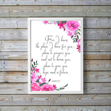 Prints - jeremiah 29 11 wall decor, for i know the plans i have for you wall decor