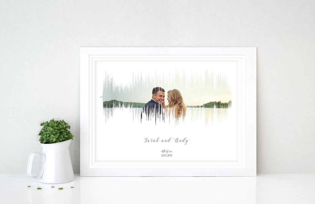 SoundwavePhoto - Personalised Sound Wave Art Print With Photo Background