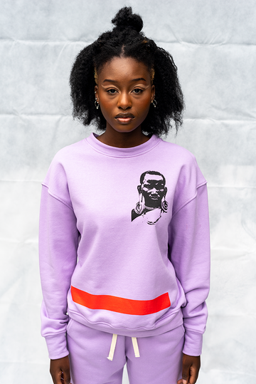 FKL1 : LADIES CREW NECK PRINTED TOP / LIGHT PURPLE