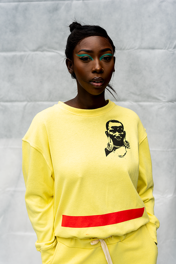 FKL1 : LADIES CREW NECK PRINTED TOP / LEMON