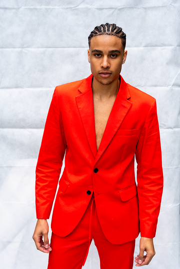 MORGAN : MENS BUTTON JACKET / RED