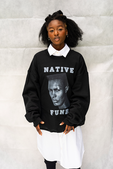 NATIVE '' GRACE '' FUNK -  UNISEX TOP / BLACK
