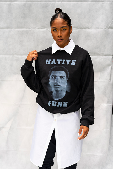 NATIVE '' ALI '' FUNK - UNISEX TOP / BLACK