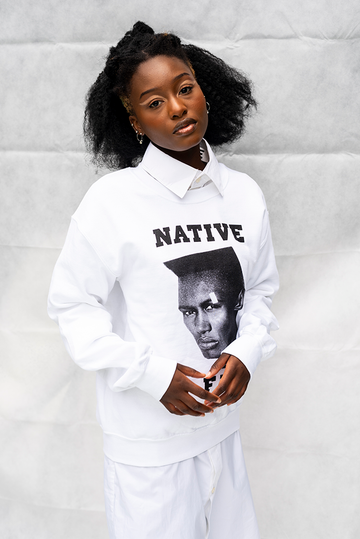 NATIVE '' GRACE '' FUNK -  UNISEX TOP / WHITE