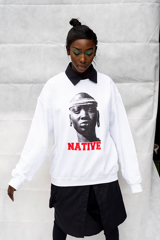 NATIVE  - UNISEX TOP / WHITE