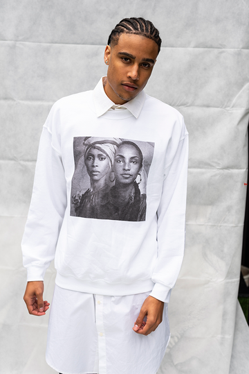 BADU / SADE  - UNISEX TOP / WHITE