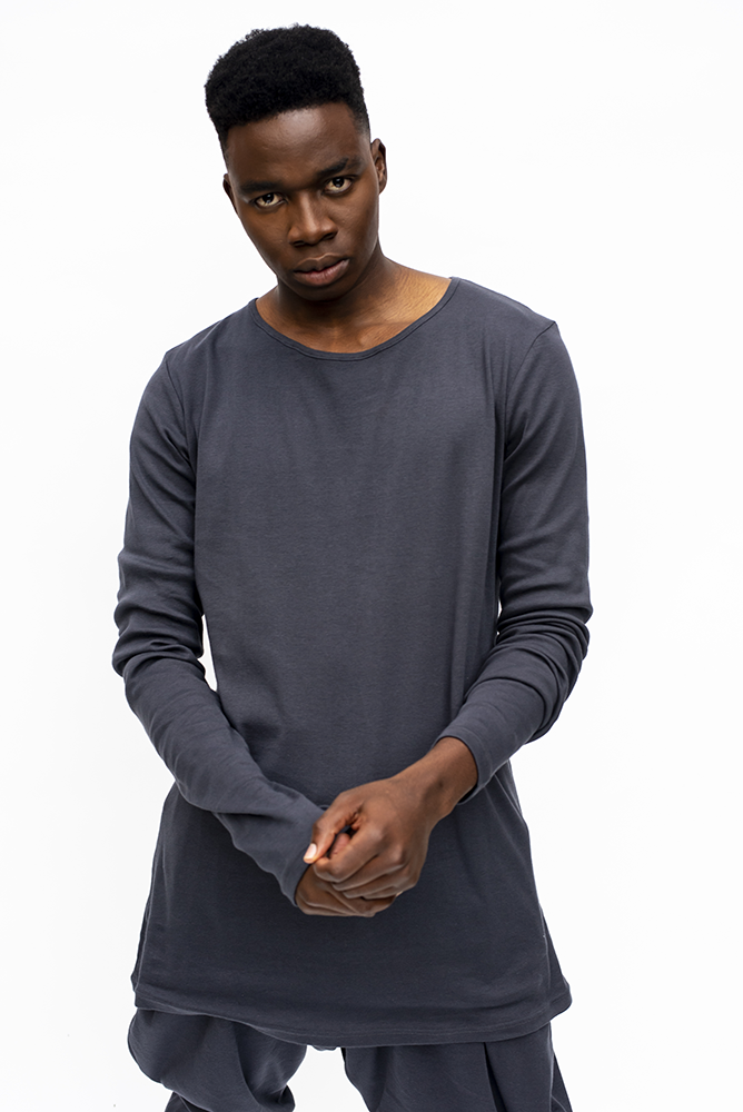 JEAN : MENS LONG SLEEVE TOP / CHARCOAL