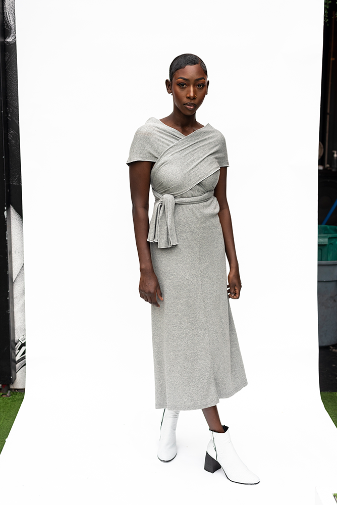 DORIS : WRAP MULTI DRESS / GREY