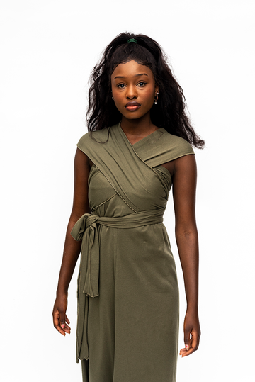 DORIS : WRAP MULTI DRESS / KHAKI