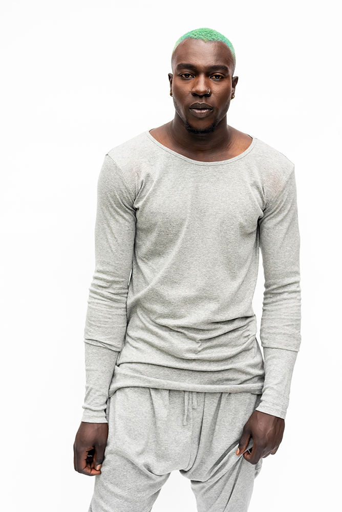 JEAN : MENS LONG SLEEVE TOP / GREY
