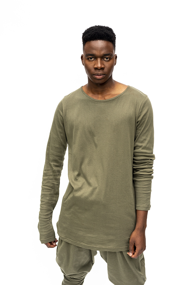 JEAN : MENS LONG SLEEVE TOP  / KHAKI