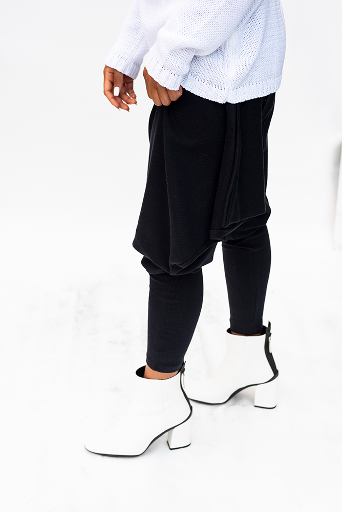 RYDER : WOMENS DRAWSTRING DROP CROTCH PANTS / BLACK