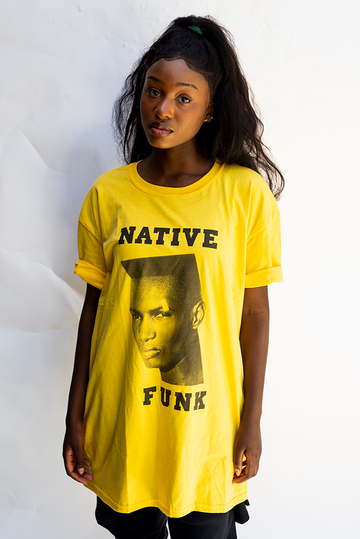 NATIVE ''GRACE '' FUNK UNISEX T'SHIRT / YELLOW