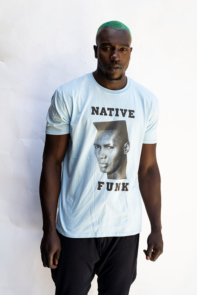 NATIVE ''GRACE '' FUNK UNISEX T'SHIRT / SKY