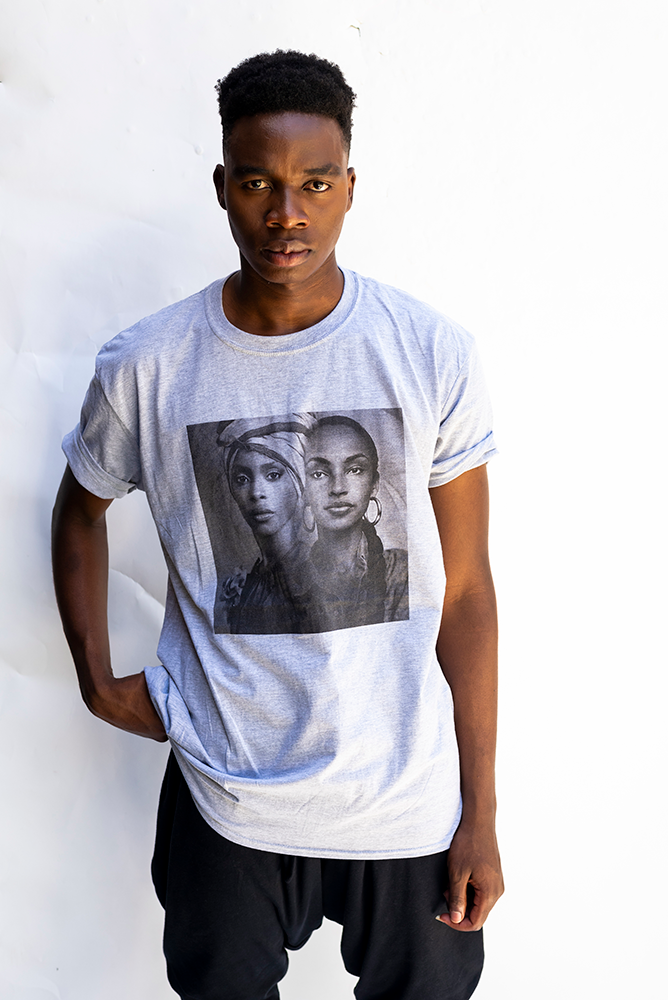 BADU / SADE :  UNISEX T'SHIRT  / LIGHT GREY