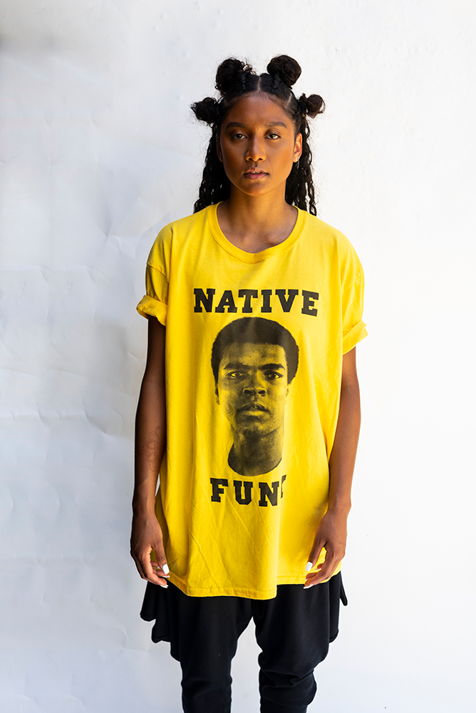 NATIVE '' ALI '' FUNK   T'SHIRT / YELLOW