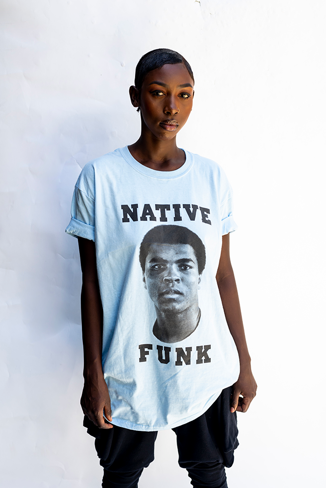 NATIVE '' ALI '' FUNK T'SHIRT / SKY