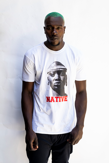 NATIVE PRINT UNISEX T'SHIRT / WHITE
