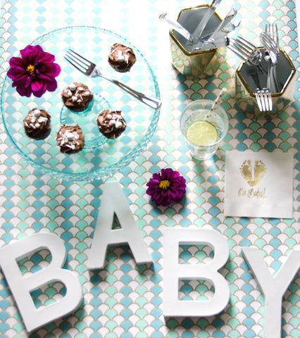 Mint & Gold Baby Shower