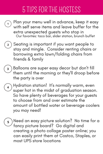 Graduation Party Tips for Hosting