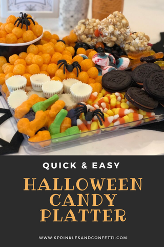 The Easiest Halloween Candy Platter