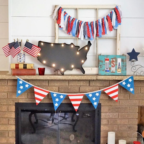 Legally Crafty Blog | Mantel Photo | 4th of July