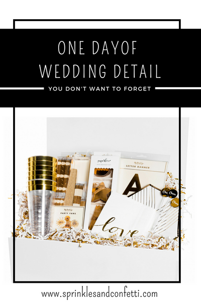 One Day of Wedding Detail You Don't Want to Forget