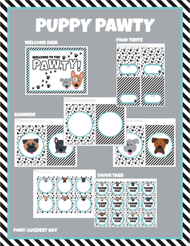 Puppy Party Printable Package