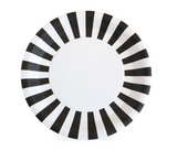 Black Stripe Dinner Plate  | Halloween Party Supplies Sprinkles & Confetti