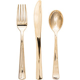 metallic-gold-assorted-silverware-bridal-shower-decorations