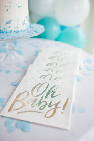 Oh baby Gold Baby Shower  | Gender Neutral