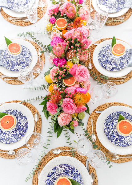 Pizzazzerie citrus tablescape