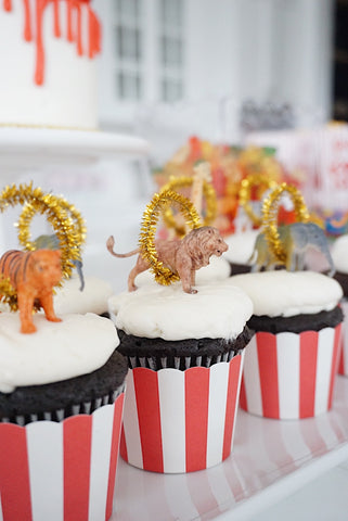 Greatest Showman Birthday Party Circus Cupcakes