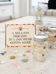 Greatest Showman birthday Million Dream Jar