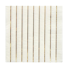 Gold and white stripe napkin - golden birthday party