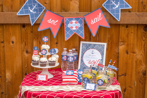 Nautical Party Printables  | Free | Elvamdesigns